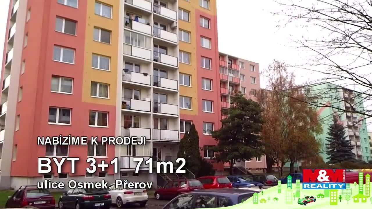 Prodej, byt 3+1, 71 m2, Přerov, ul. Osmek