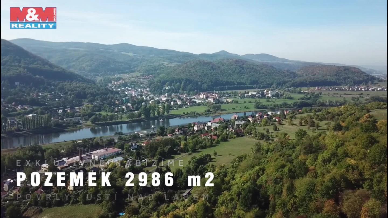 Prodej, stavební parcela 2986 m2, Povrly, ul. Na Palouku