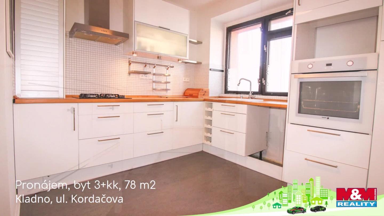 Pronájem, byt 3+kk, 78 m2, Kladno, ul. Kordačova